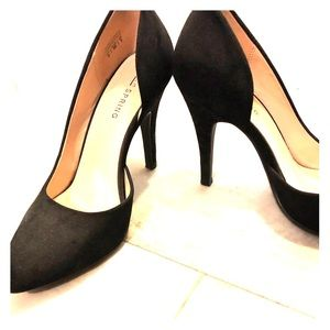 Call it Spring black suede pumps - size 6